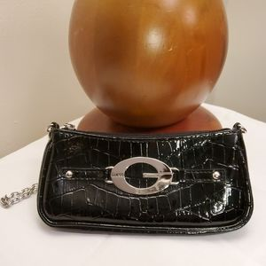 Guess 💕 small, black purse with silver chain